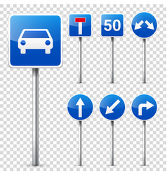 Road signs collection isolated on white background vector