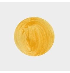 Round spot acrylic watercolor yellow vector