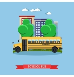 School bus in flat style vector