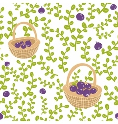 Seamless background with fresh berries vector image