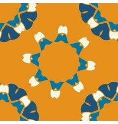 Seamless indian pattern on orange background vector
