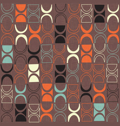 seamless retro mid century modern pattern vector image