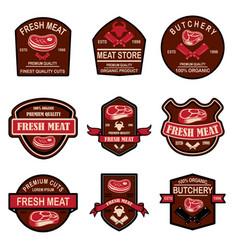 set fresh meat labels design element for logo vector image