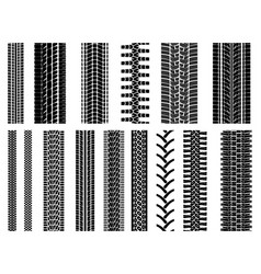 Set of pattern wheel tracks vector