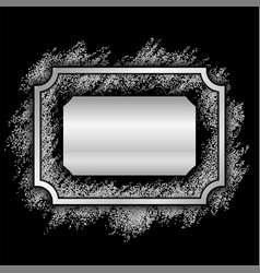 Silver frame beautiful glitter design vintage vector