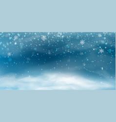 snow background winter christmas landscape vector image