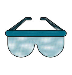 sunglasses fashion isolated vector image