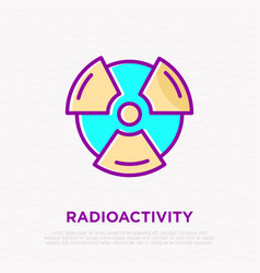 symbol of radioactivity thin line icon vector image