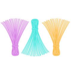Thread tassel icons vector