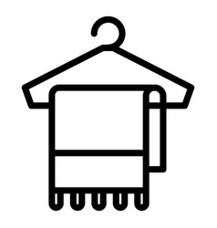 towel on hanger icon outline style vector image