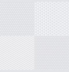 Trendy modern techno white geometric vector