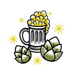 vintage glass beer vector image