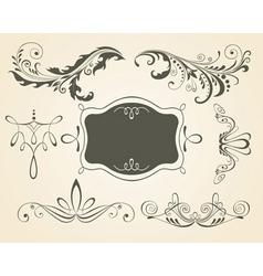vintage scrolls and frame des vector image