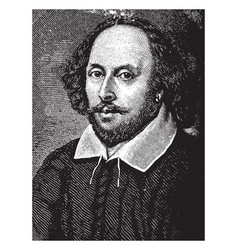 William shakespeare vintage vector