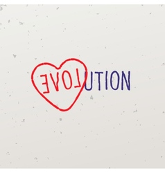 word-game with word evolution vector image