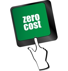 Zero cost button on computer keyboard key vector