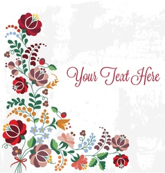 Editable Floral Greeting Card vector image vector image