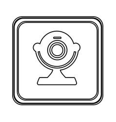 figure emblem computer camera icon vector image vector image