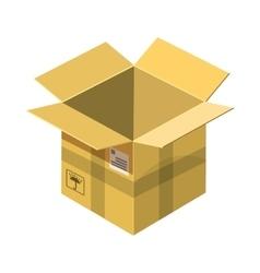 Open empty cardboard icon cartoon style vector image