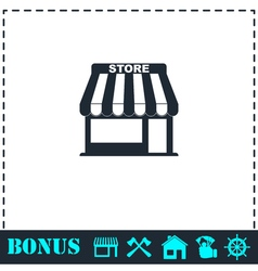 Store icon flat vector image