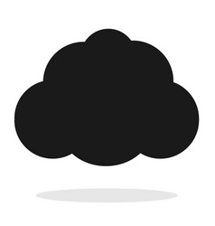 cloud icon on white background flat vector image vector image