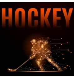 hockey player poly vector image vector image