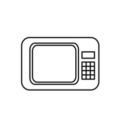 microwave appliance electronic food line vector image
