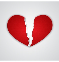 Ragged paper heart vector image