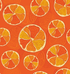 seamless pattern with oranges - vector image