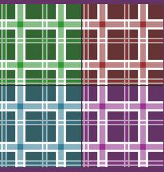 seamless tartan pattern set vector image vector image