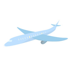 blue cute airplane cartoon style travel isolated vector image vector image