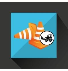 construction truck concept road cone design vector image