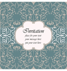 Invitation card with vintage ornaments vector image
