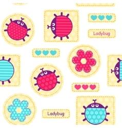 Ladybirds seamless pattern vector image