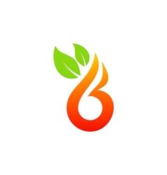 beauty fruit logo vector image vector image