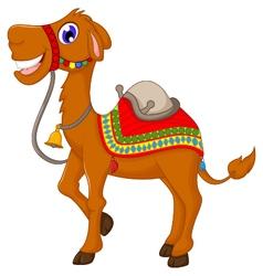 funny camel cartoon vector image