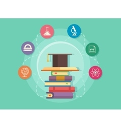 Science education flat style vector image vector image