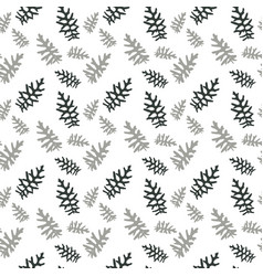 seamless pattern colorful naturalistic leaves vector image vector image