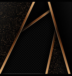 abstract background with black and gold design vector image