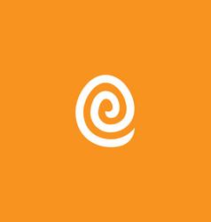 Abstract line letter e logo icon logo design vector