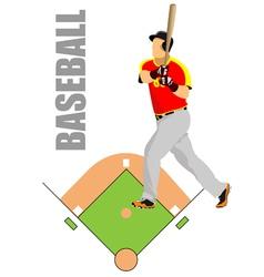 al 1008 baseball 03 vector image