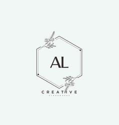Al beauty initial logo art handwriting logo vector