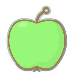 Apple tag icon cartoon style vector