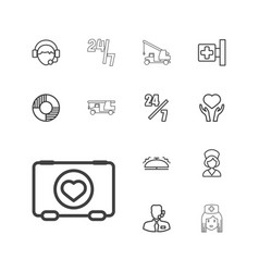 Assistance icons vector