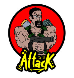 Attack war icon vector