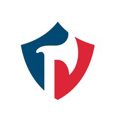 Axe and shield logo icon design template vector