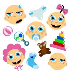 baby face icon vector image vector image