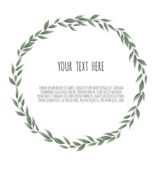bay leaves wreath template for wedding vector image