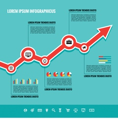 Business Graphic Up-Trend vector