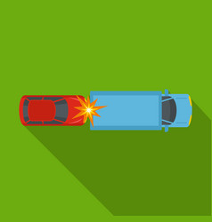 car injury icon flat style vector image